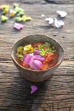 Orang flower curry. Thai kitchen style. Thai kitchen is floral kitchen .