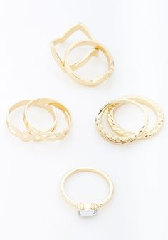 Quite the Collection Ring Set | Mod Retro Vintage Rings | ModCloth.com