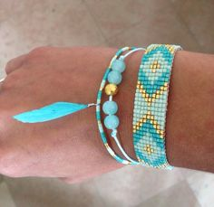 Bracelet Seed Bead Bracelets Diy, Woven Bracelets, Seed Bead Jewelry, Bead Jewellery, Seed Bead Earrings, Cute Jewelry, Beaded Earrings, Beaded Jewelry, Handmade Jewelry