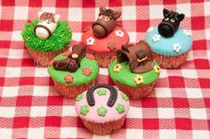 Sugar Cakes: CupCakes Caballos!!                                                                                                                                                                                 Más Fondant Cupcakes, Cupcake Cakes, Cup Cakes, Horse Cupcake, Wild West Party, Western Parties, Cowboy Party, Sugar Cake, 2nd Birthday