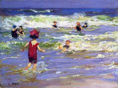 petit baigneur de la mer de Edward Henry Potthast (1879-1881, United States)
