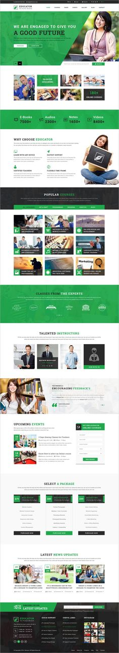 Educator is an unique and modern #PSD template for Kindergarten, #Courses Hub, Training Center, #Academy, College, University, School, LMS or any educational websites with 6 different homepages and 30+ organized PSD pages download now➩ https://themeforest.net/item/valluvar-education-multipurpose-psd-template/19189091?ref=Datasata