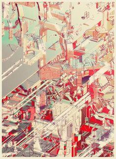 強烈風格的城市建築插畫 – Atelier Olschinsky | ㄇㄞˋ點子靈感創意誌