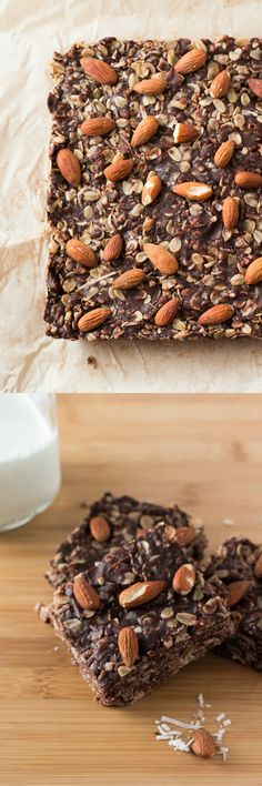 Almonds, coconut & chocolate come together in these delicious Almond Joy Granola Bars. Wholesome ingredients, gluten-free, vegan & super easy.