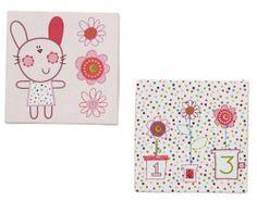 Lollipop Lane Upsy Daisy Canvas Print Set: Amazon.co.uk: Baby