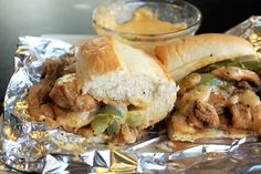 Philly chicken Steak Sandwich, Creole-style! Sounds so much better than the slow cooker chicken Philly cheesesteak sandwich recipe floating around lately (and my hubs would prefer this version to it). Winner!