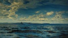 'SUMMERTIME OFF CORNWALL' (1883) | Henry Moore: Oil on canvas, 90.7 x 154.5cm     ✫ღ⊰n
