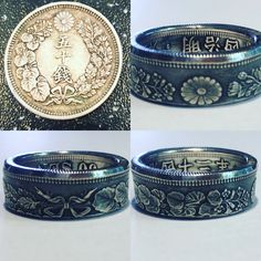 Coin Ring, Diamond Are A Girls Best Friend, Ring Designs, Jewlery, Cuff Bracelets, Gold Rings, Coins, Feather, Sapphire