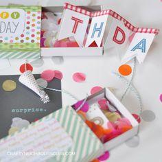 Geburtstagsüberraschung in der Streichholzschachtel. DIY auf dem Blog