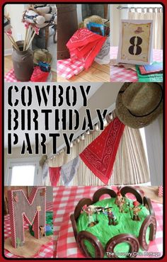 Party Ideas {Cowboy Birthday Party Decorations} with @consumer_crafts - * THE COUNTRY CHIC COTTAGE (DIY, Home Decor, Crafts, Farmhouse)