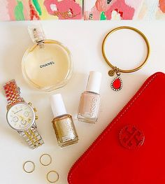 chanel, essie, tory, loren // The Carrie Bangle