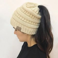 4a77dc58b3641 Soft Knit Beanie. Ponytail BeanieCc BeanieKnit BeanieBeanie HatsBun BeaniesWarm  Winter HatsWinter Hats For WomenFashion ...
