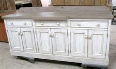 White Custom Server From Reclaimed Oak - traditional - buffets and sideboards - boston - by eCustomFinishes