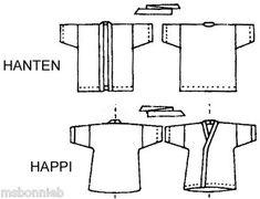 hanten jacket pattern | ... Wrap Happi Coat & Hanten Victoria Jones Sewing Pattern XS-2X His/Hers