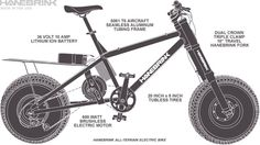 Hanebrink, electric bike specifications