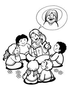El Rincón de las Melli: Catequista hablando de Jesús