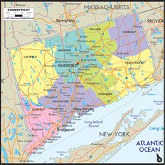 Map Of Connecticut US States Pinterest - Connecticut us map
