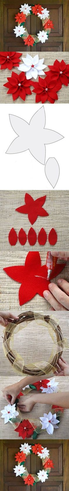 DIY Felt Christmas Wreath DIY Projects | UsefulDIY.com Follow Us on Facebook == http://www.facebook.com/UsefulDiy