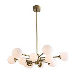Arteriors Home Karrington Antique Brass 12 Light Chandelier
