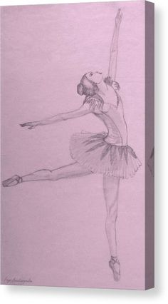 Canvas print, ballerina,ballet,dancer,performance,tutu,pointe,shoes,woman,female,feminine,lady,girl,young,figurative,unsubstantial,ethereal,elegant,graceful,lone,single,solo,romantic,nostalgic,dreamy,classy,classic,pink,pinkish,purple,lavender,pastel,monochromatic,of,a,the,graphite,pencil,sketch,drawings,mixed,media,home,office,hotel,decor,artworks,products,items,for sale,online,fine art america