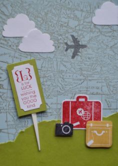 Stampin UP card Swop uses This is me DSP & Around the World Stamp set