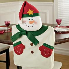 Christmas Decorations chair covers | SNOWMAN CHAIR BACK COVERS | CHAIR COVERS
