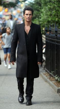 Pin for Later: Matthew McConaughey Has a New Look, Is Kind of Terrifying on the Set of Dark Tower