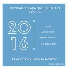 Os deseamos de corazón, que en el 2016 se cumplan todos vuestros sueños. Muchas gracias por formar parte de esta gran familia y ¡Feliz 2016!