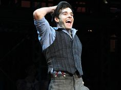 Corey Cott's first performance in NEWSIES- So cool! He came through our youth group at Parkside Church. Great family!