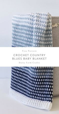 Crochet baby blanket 193584483968931921 - Free Pattern – Crochet Country Blues Baby Blanket Source by daisyfarmcrafts Crochet Baby Blanket Free Pattern, Crochet Baby Blanket Beginner, Crochet Blankets, Baby Blankets, Caron Simply Soft, Baby Patterns, Crochet Patterns, Blue Baby Blanket, Star Wars Baby