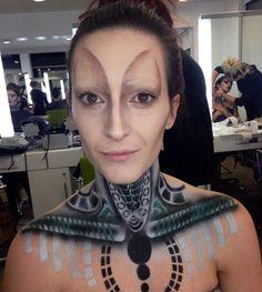 Giger inspired makeup