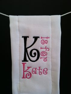 Burp cloth – embroidery – initial stands for name – Towel Ideas 2020 Baby Embroidery, Machine Embroidery Projects, Embroidery Monogram, Brother Embroidery, Machine Embroidery Applique, Embroidery Patterns, Embroidery Thread, Embroidered Gifts, Embroidered Towels
