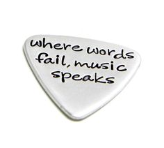 Personalized Guitar Pick  Hand Stamped by silverimpressions, $25.00