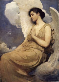 ♥Abbott Handerson Thayer American, 1849-1921, Winged Figure
