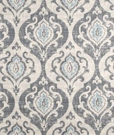 Damask Curtains, Lined Curtains, Custom Curtains, Custom Pillows, Drapery Fabric, Shabby Chic Chairs, Shabby Chic Furniture, Grey And White Curtains, Faux Roman Shades