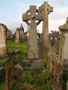Celtic crosses, St. Davids, Pembrokeshire.   via English Heritage