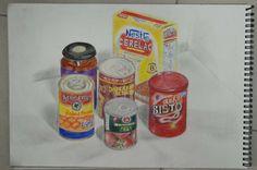 oca drawing blog, supermarket shop -  2nd Drawing Colour Pencil