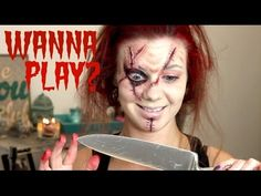 ....I am so scared of chucky lol. This girl is super beautiful and I love her vids! EASY CHUCKY HALLOWEEN MAKEUP | UnlimitedElizabeth