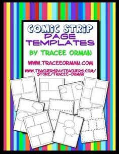 FREE: Comic Strip Template Pages for Creative Assignments. These would be great to use with www.makebeliefscomix.com.