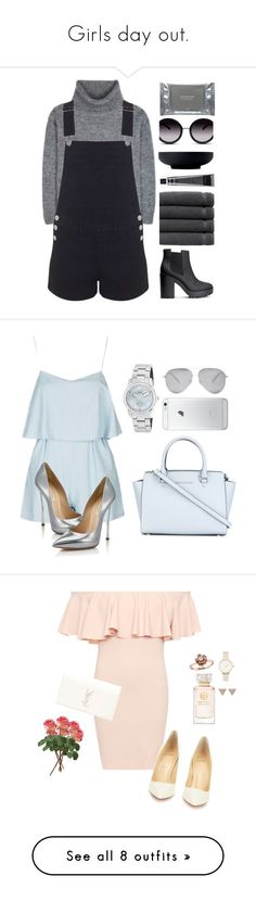 Girls day out. by creece-massoudi on Polyvore featuring polyvore, fashion, style, Yves Saint Laurent, Miss Selfridge, H&M, Linum Home Textiles, GlassesUSA, Grown Alchemist, Dermalogica, Royal Doulton, clothing, denim, polyvoreeditorial, polyvorecontest, Topshop, Casadei, Invicta, MICHAEL Michael Kors, Victoria Beckham, AT&T, WearAll, Christian Louboutin, Olivia Burton, Amour, Tory Burch, ADORNIA, M&Co, River Island, Office, Dorothy Perkins, Manolo Blahnik, Monsoon, TIBI, Charlotte Olympia…