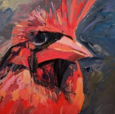 Cardinal 2013 oil on canvas 32 x 32 in = 80 x 80 cm