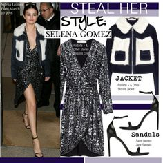 Steal Her Style-Selena Gomez by kusja on Polyvore featuring mode, Yves Saint…