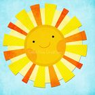 My Sunshine Digital Clipart comes with the following individual elements:  1 x sun with drop shadow 1 x sun without drop shadow 1 x blue textured b...