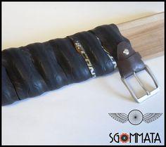 Cintura in copertone di bici da corsa // fibbia in di Sgommata