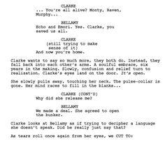 Bellarke- The 100- script 5x6 << Cough, cough. HARPER?!