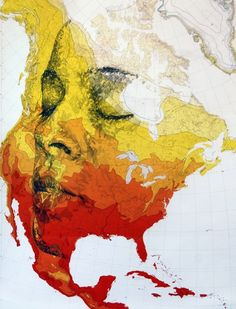 Ed Fairburn-Incredible New Portraits Carved from Old Military Maps - My Modern Metropolis