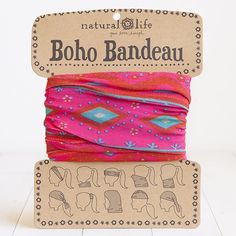 "Boho Bandeau ~ ""Details: Our super cute & versatile Boho Bandeau can be worn 10 different ways! Wrap around your head, neck, wrist or pony - it's the perfect boho headband and accessory for girls who love to try out new styles!"""