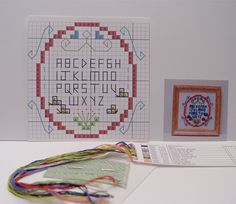 "1/12 scale miniature cross-stitch kit ""Sampler"" 