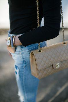 02ea917d1f6 CHANEL BAG Beige Chanel Bag, Vintage Chanel Bag, Chanel Bags, Chanel Street  Style