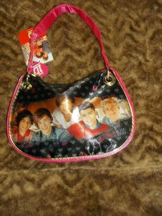 Girls love 1D! new pink One Direction photo handbag girl's purse children 1D Harry Zayn Louis